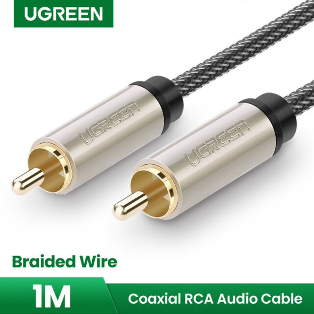 UGREEN Gold Stereo Digital Coaxial Audio Video RCA Cable For TV Amplifier 3FT