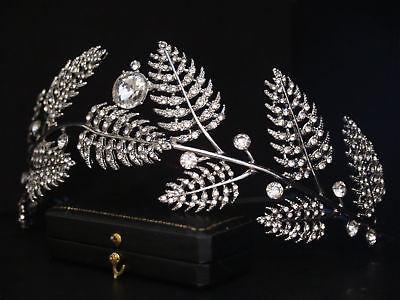 Attivo Vintage Design Foglia Di Vite & Drop Crystal Tiara Copricapo-da Cerimonia-mostra Il Titolo Originale E Avere Una Lunga Vita