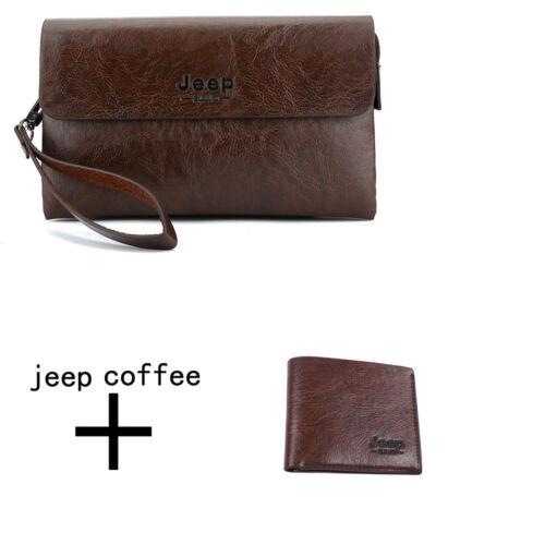 Men clutch bags wallet black leather handbag male purse mobile phone money bag