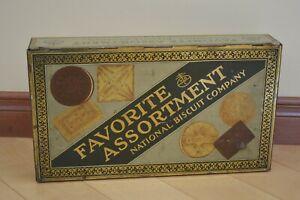 Vintage 1930s National Biscuit Co. Nabisco 2lb Tin - Favorite Assortment