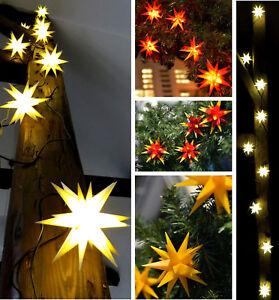 Lichterkette 16 Strängen mitMicro-LED-Sternen Outdoor Lichtkette Garten Advent