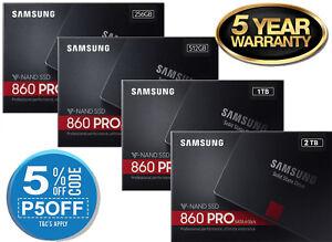 "SAMSUNG SSD 860 PRO 256G 512G 1TB 2TB   V-NAND  2.5"" SATA III  5 Years Warranty"