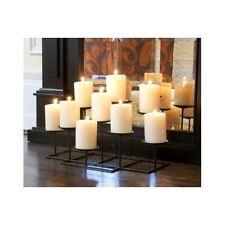Fireplace Candle Holder Centerpiece Candelabra Modern Black Mantelpiece New