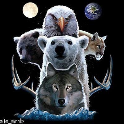 Southwest Animal Totem HEAT PRESS TRANSFER for T Shirt Sweatshirt Fabric #771h