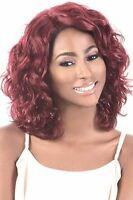 Motown Tress Synthetic Medium Wave Style Wig, Deep Part Ldp Sugar Lace Front Wig
