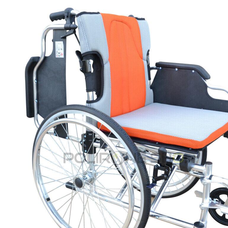 s l1600 - KEROS Silla de ruedas en aluminio manual plegable y autopropulsable para anciano