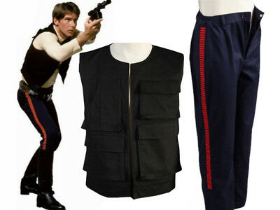 Star Wars Episode IV A New Hope Han Solo Cosplay Costume Only Vest+Pants