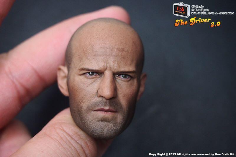 1 6 Jason Statham Head Sculpt Expendables For Hot Hot Hot Toys Muscular - U.S.A. SELLER 48e556