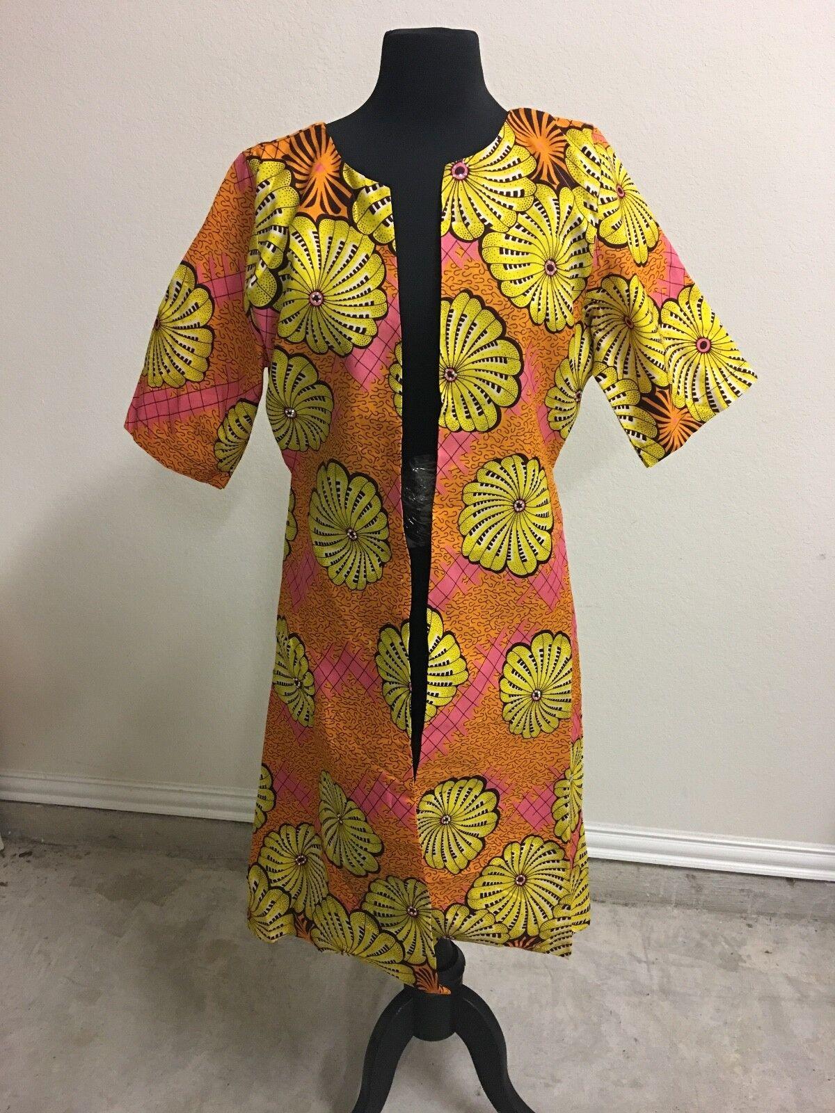 8174ad32841e Stoned Ankara Kimono sleeves fully lined short with nxwrid2607-Dresses