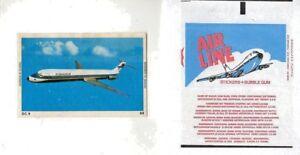 1965-DANDY-GUM-World-Airline-Stickers-Single-Card-88-FINNAIR-DC9-RARE
