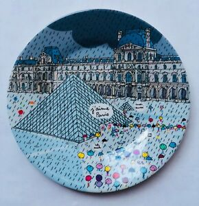 Cups, Dishes & Utensils The Best Paris Themed Kids Dessert Plates By Petit Jour Paris Cheap Sales 50% Feeding