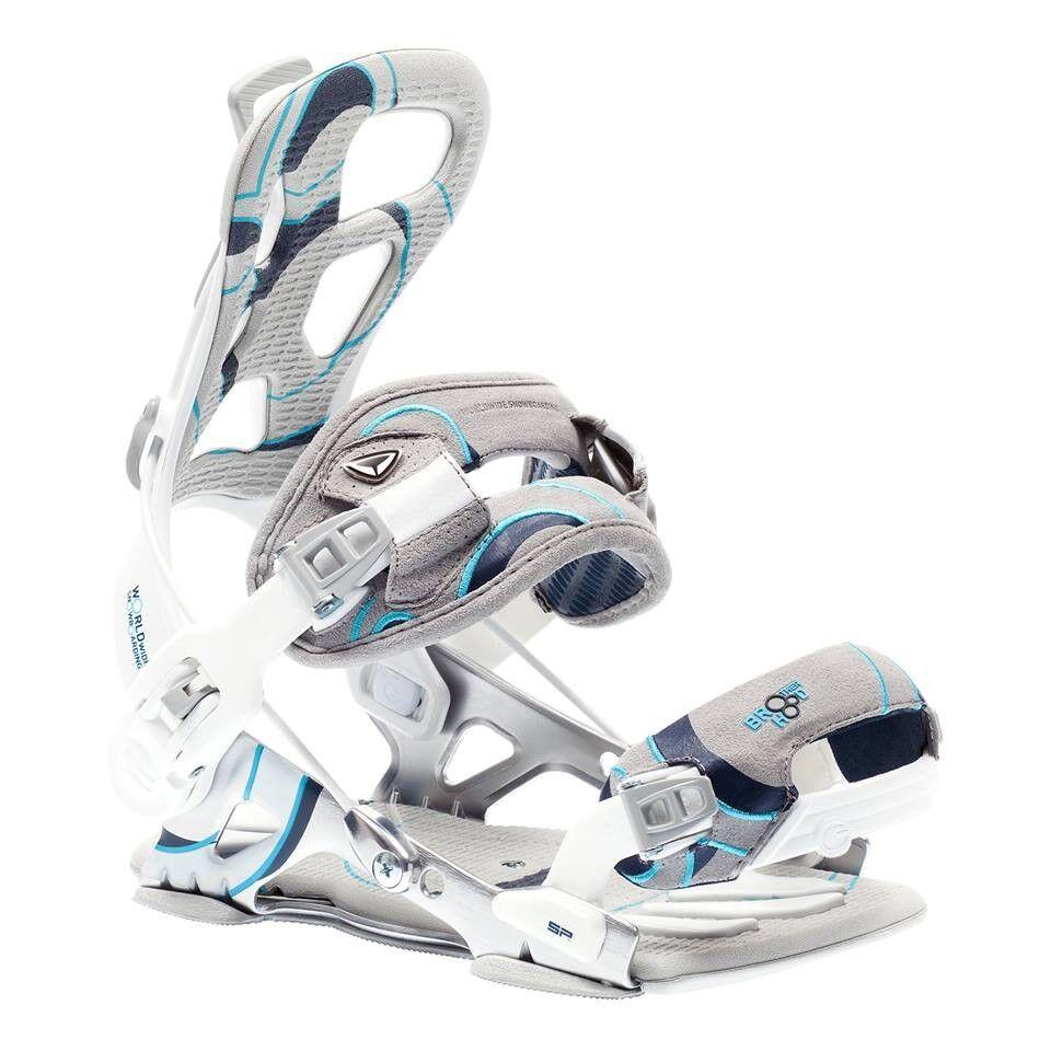 SP fastec  BredHERHOOD Brand New  Snowboard Bindings white size S  manufacturers direct supply