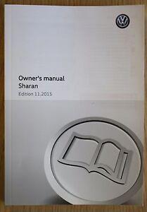 genuine vw sharan handbook owners manual guide 2010 2018 book rh ebay co uk vw sharan 2013 user manual vw sharan user manual