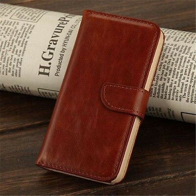 Wallet Card Holder PU Leather Flip Case Cover For Apple iPhone 5 5S