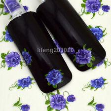 water transfer nail art sticker decorations fingernail decals decorative flower