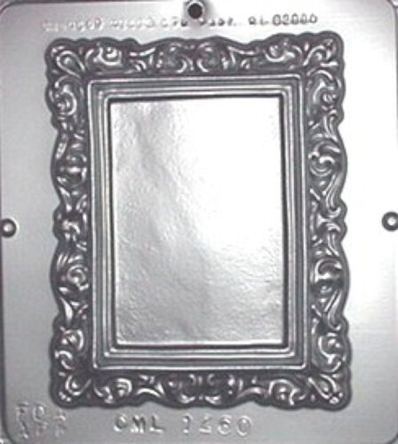 """Picture Frame 6/"""" x 7/"""" Chocolate Candy Mold 1260 NEW"""