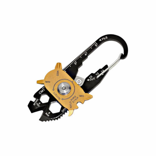 Outdoor Wrench in 20 Survival Screwdrivers EDC Keychain Pocket Kit Multi 1 Tools