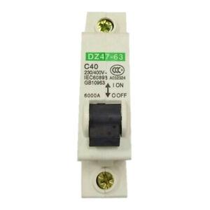 Single-Pole-DIN-Rail-MCB-Miniature-Circuit-Breaker-230V-400V-AC-40A