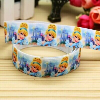 1 meter of Disney Princess Character 25mm Grosgrain Ribbon Card Making or Bows