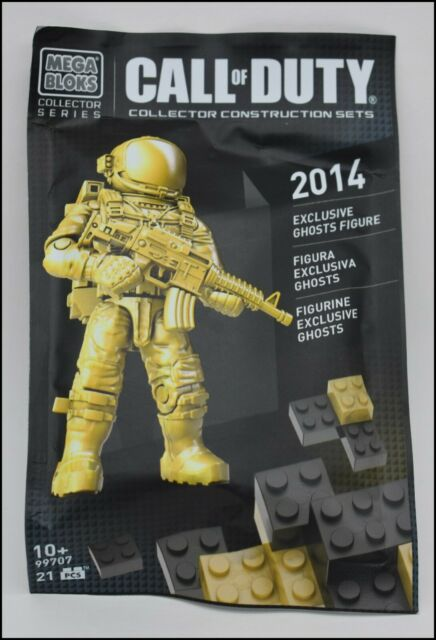 MEGA BLOKS CALL OF DUTY GOLD ASTRONAUT 2014 NYCC EXCLUSIVE GHOSTS FIGURE 99707