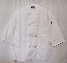 Newchef Fashion Inc White Chef Jacket 34 Sleeve Unisex Size Small