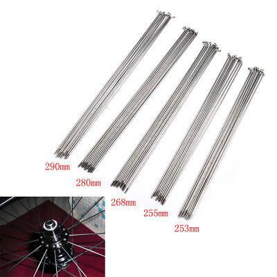 10PCS 14G Bike Bicycle Spoke Spokes Nipples 253~290mm Stainless steel spoB qe
