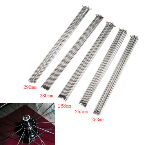 10PCS 14G Bike Bicycle Spoke Spokes + Nipples 253290mm Stainless steel sportsBH