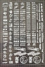 RC DRIFT JDM CAR White-3 Decal Sticker Label Yokomo MST HPI Tamiya Overdose