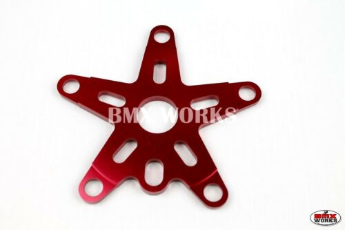 ProMX Retro Alloy BMX Spider 110BCD Red - Old School BMX Style