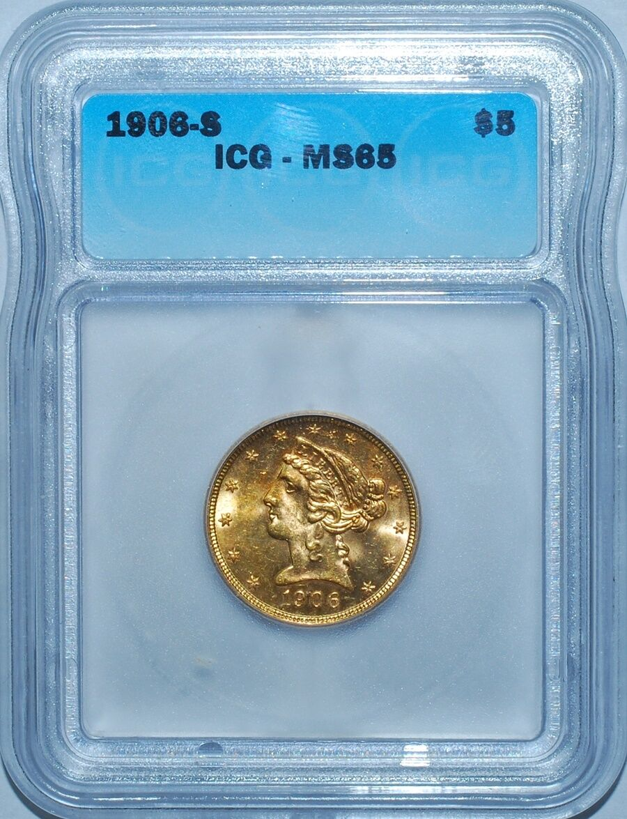1906-S $5 Gold Liberty Head