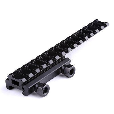 3 Slot Léger 20 mm Weaver Rail See Thru Rifle Scope Riser Mount Picatinny