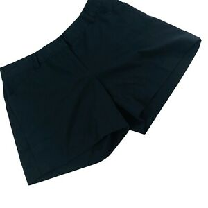 Daisy Fuentes Black Lightweight Polyester Blend Shorts Size 6 31X5 Hips 39