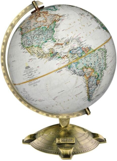 Bowers 12 Inch Illuminated Desk World Globe By National Geographic For Sale Online Ebay