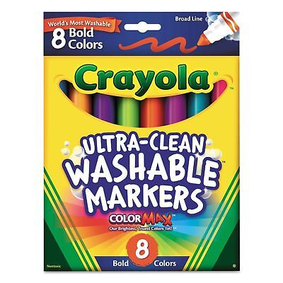 Broad Line 8 Count 2 Pack Crayola Ultra-Clean Washable Markers