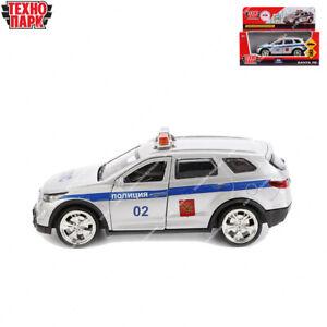 Tehnopark Diecast véhicules police Hyundai Santa Fe russe jouet voitures 12 cm