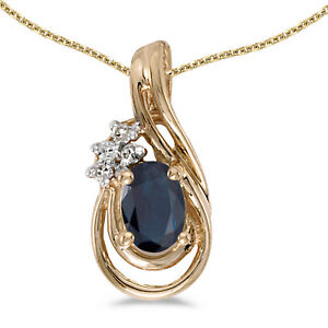 14k-Yellow-Gold-Oval-Sapphire-And-Diamond-Teardrop-Pendant-with-18-034-Chain