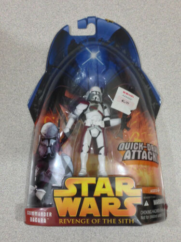 STAR WARS REVENGE OF THE SITH #01-49 COMMANDER BACARA WITH QUICK DRAW ATTACK