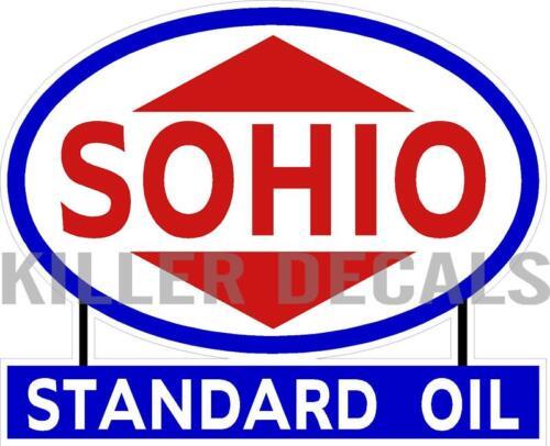 "12/"" SOHIO STANDARD 1940-52 GASOLINE DECALS GAS AND OIL SOHI-3"