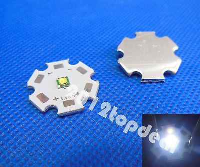 10pcs Cree XP-G XPG R5 5w Cool White 6500k LED Emitter chip With 20mm star Base