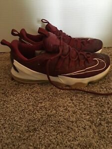 half off b1cd4 ef7f5 Details about Nike Lebron 13 Low Burgundy Mens Basketball Shoes Used Size 10