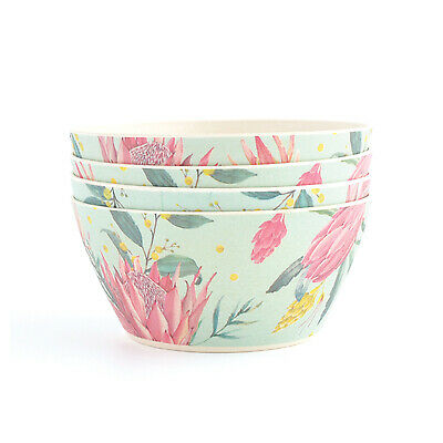 Kaiserstyle Bamboo Bowl Set Protea 4pc