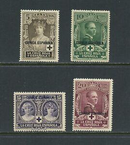 B299-Spanish-Guinea-1926-Red-Cross-OVERPRINTED-SHORT-SET-4v-MNH-MLH