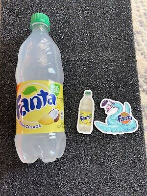 FANTA PINA COLADA 20oz bottle /& Stickers RARE Coca Cola