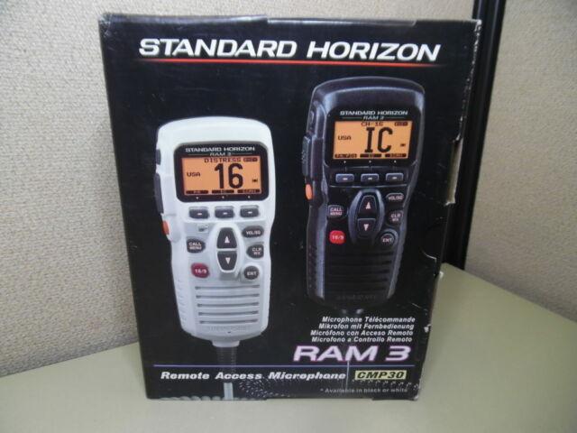 Standard Horizon CMP30 RAM 3 VHF Radio Microphone Mic - Black