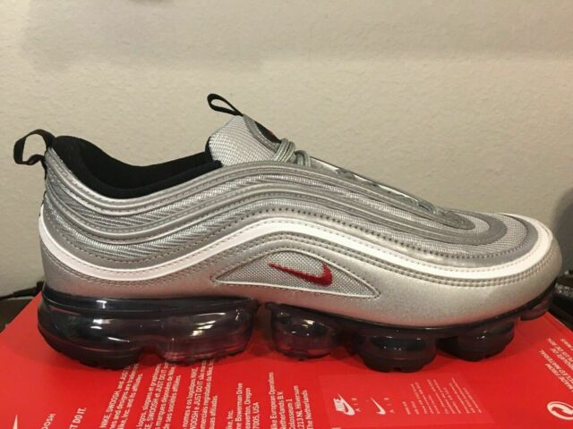 Nike Air Vapormax 97 OG Metallic Silver Bullet Men Running Shoes Aj7291 002 8.5