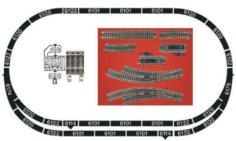 Fleischuomon h0 Profi binario Set A  B 145x81cm NUOVO 6174 6175 6179 stationsset 6190