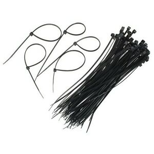 1000 PACK 12 INCH ZIP TIES NYLON BLACK 60 LBS UV WEATHER RESISTANT WIRE CABLE US