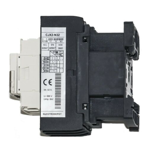 AC1 40A 50A IEC Siemens Contactor Replacement 3 Pole 120V Coil AC3 15KW 32A