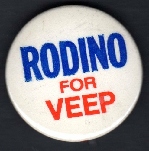 Peter Rodino  for Vice President 1972  Button (Watergate)