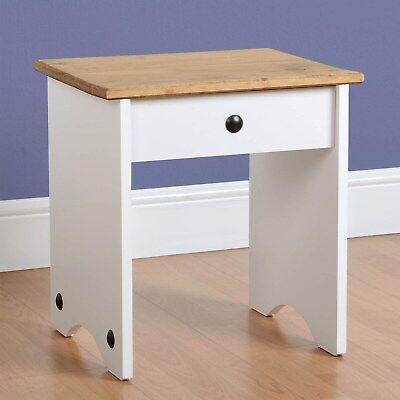 Seconique Corona White Dressing Table Stool 100-106-011